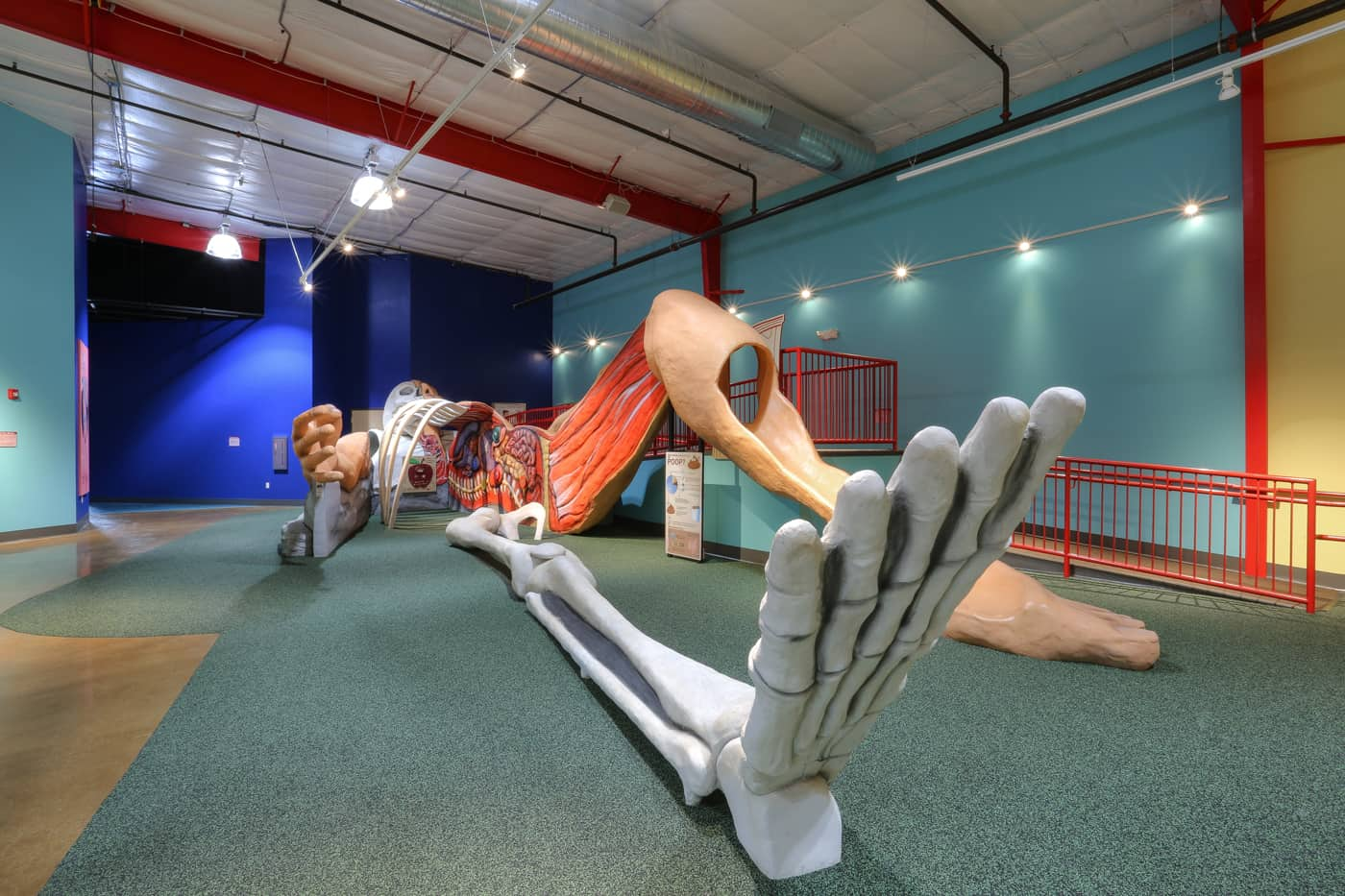 Human body play area at health works