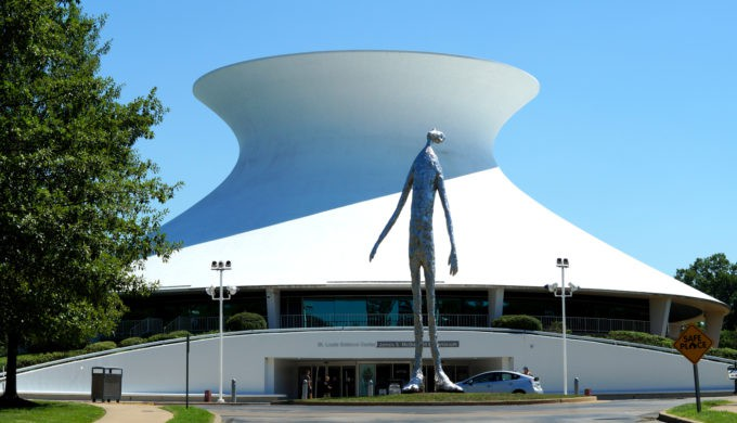 exterior Saint Louis Science Center plantarium