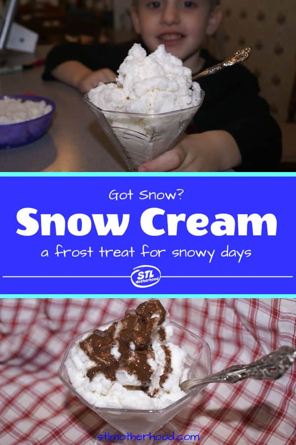 snow cream ice cream recipe