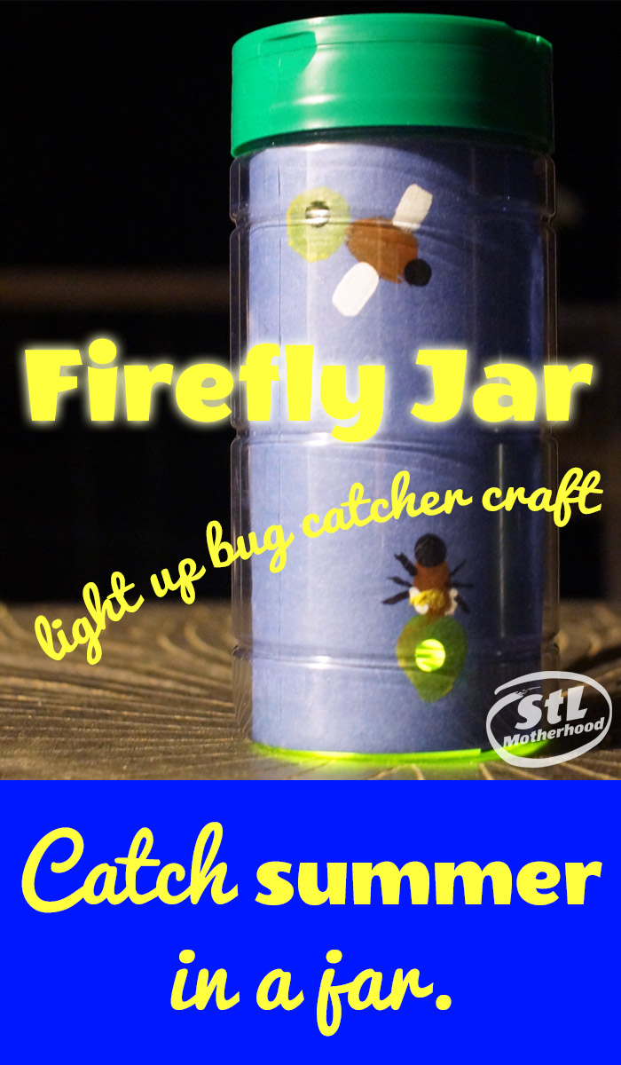 Craft a firefly jar with paint and paper.