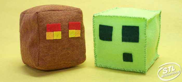 minecraft cubes made of felt