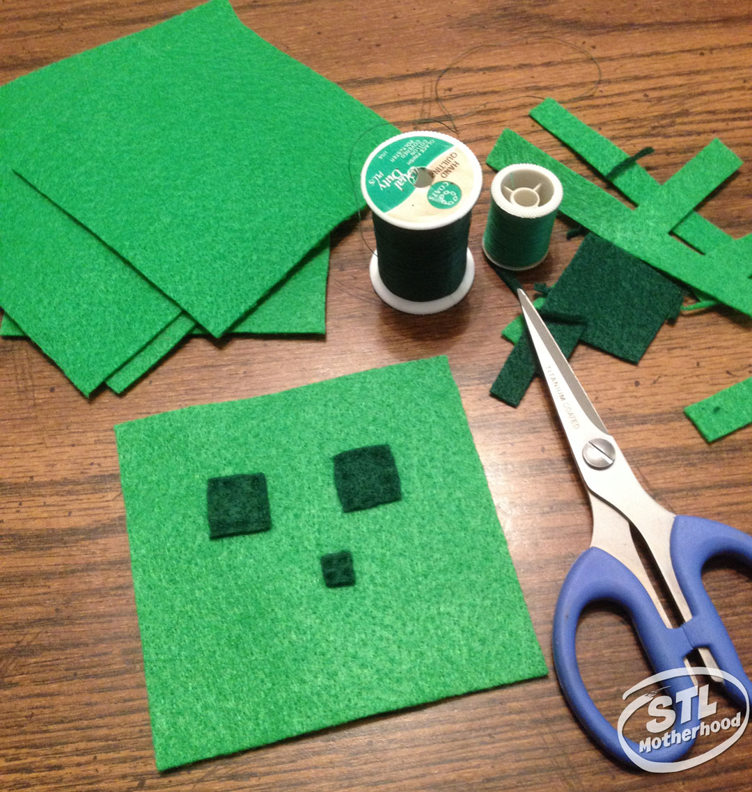 A Minecraft slime cube ready to sew