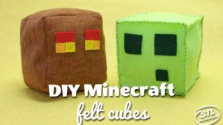 Make it! Plush Minecraft Cubes: Slimes, Magma Cubes & TNT