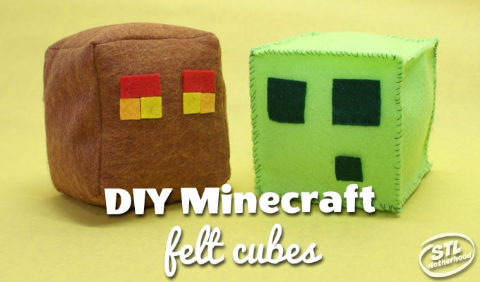 minecraft diy felt cube
