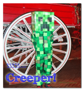 DIY Minecraft Creeper Costume by stlMotherhood