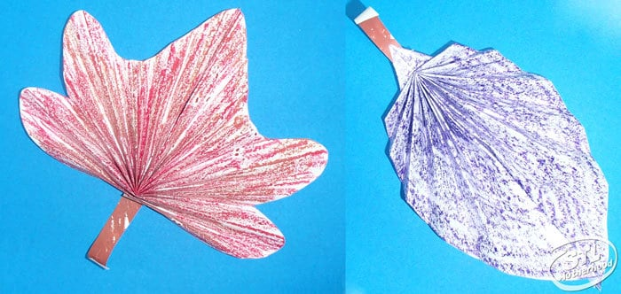 Make a folded paper leaf