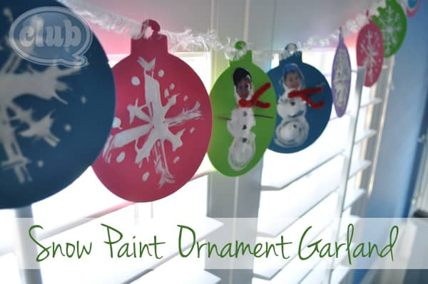 snow paint christmas ornament