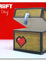 Minecraft paper box for Valentines Day