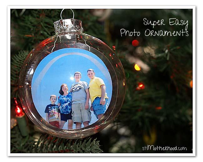 glass photo ornaments