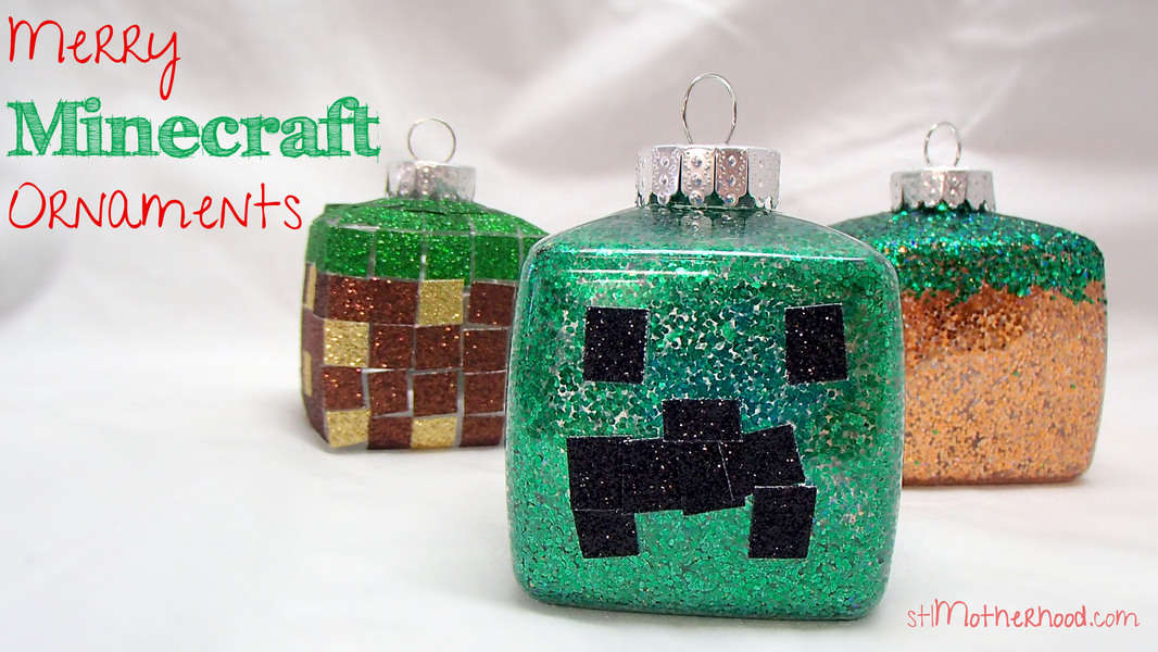 Minecraft Christmas Crafts Stlmotherhood