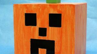 Minecraft Paper Box Halloween Pumpkin