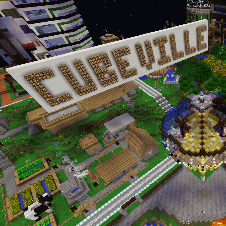 Cubeville in Minecraft