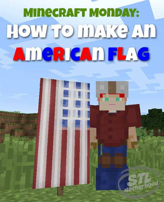 A minecraft American Flag