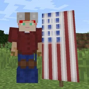 minecraft American Flag