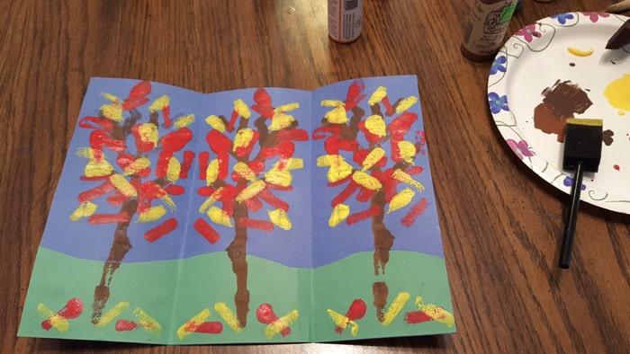 mirror trees on table