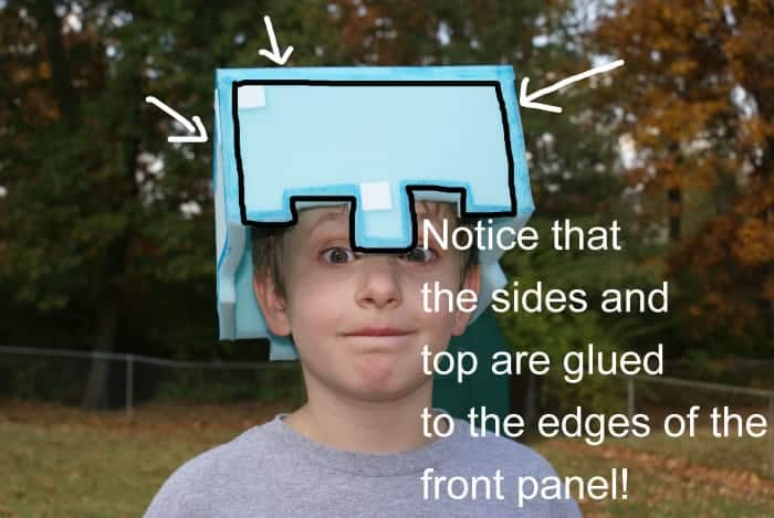 minecraft play helmet on child