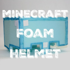DIY: Minecraft Play Helmet from Soft Foam (free printable)