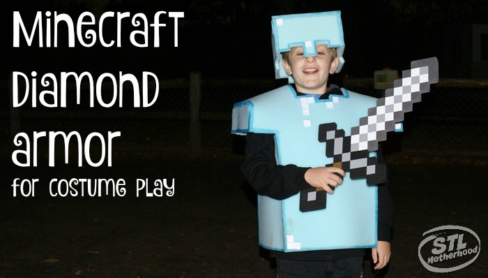 DIY: Minecraft Play Armor from Foam