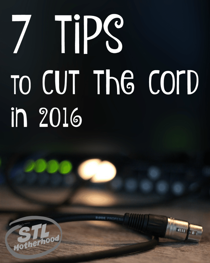cut the cord in 2016