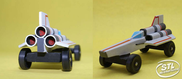 pinewood derby spaceship