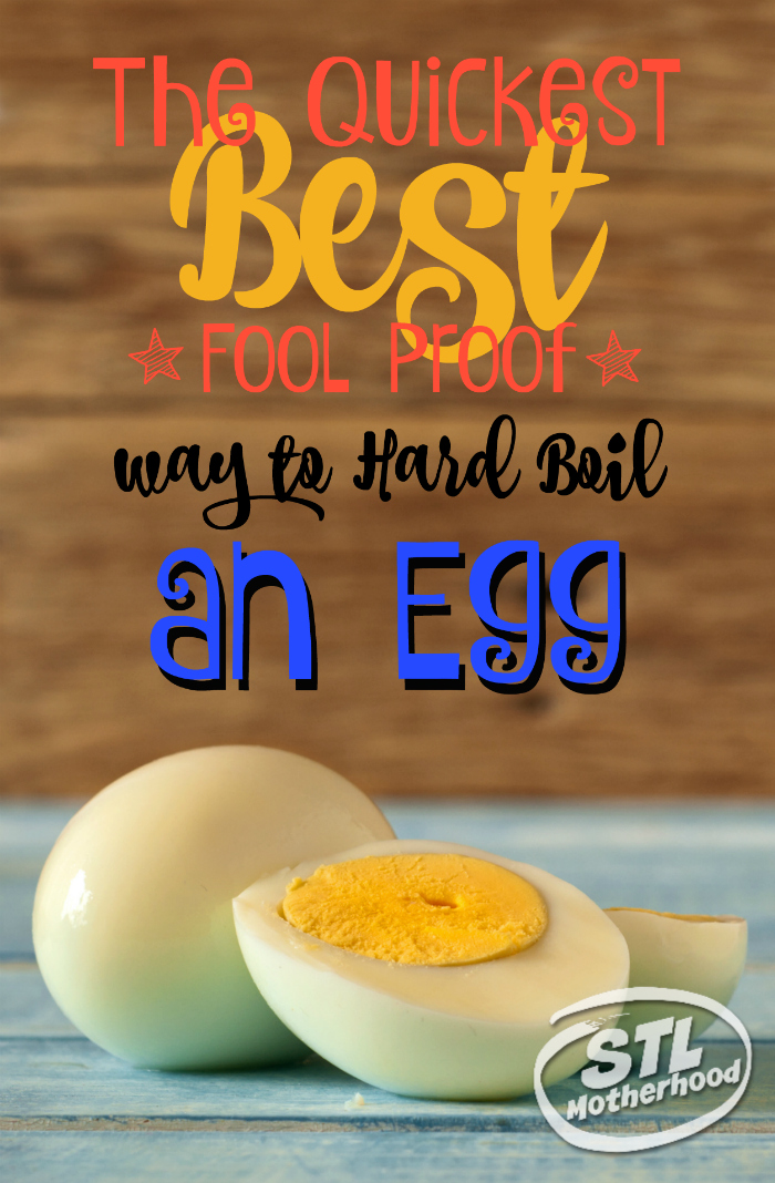 The quickest best fool poof way to hard boil an egg