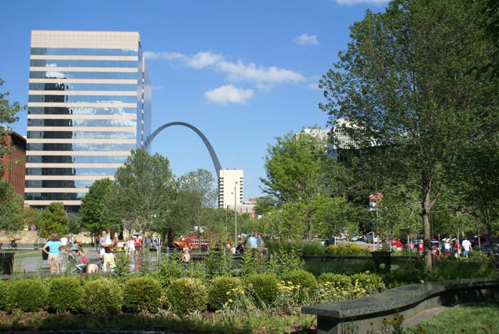 citygarden in St. Louis