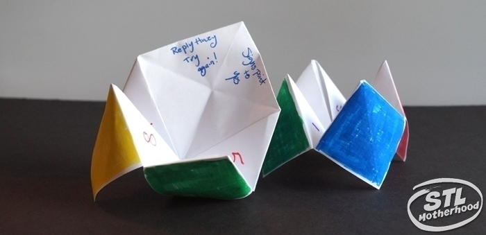 2 colorful Paper Fortune Tellers