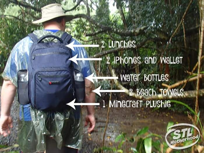 Everything fit in the ecbc backpack