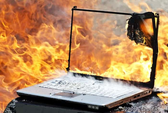 blog on fire