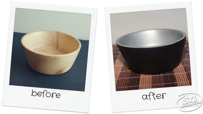 upcycle Goodwill bowl paint