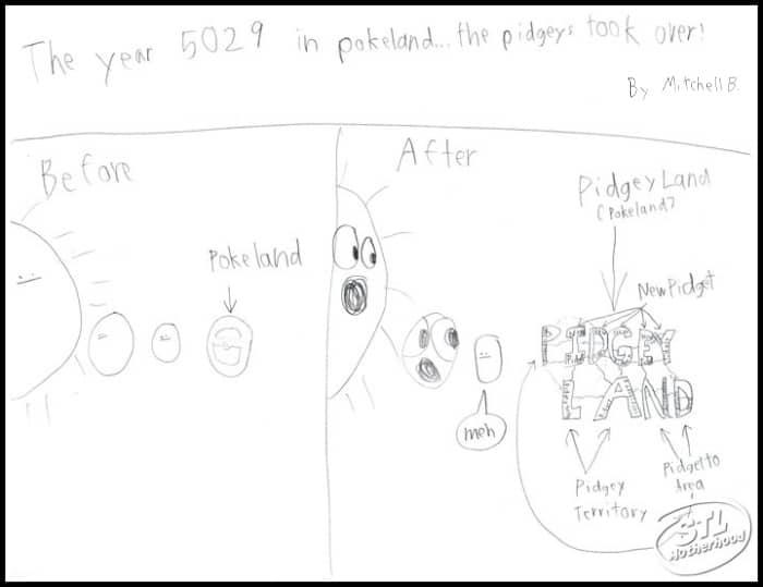 pokemom go cartoon by Mitch