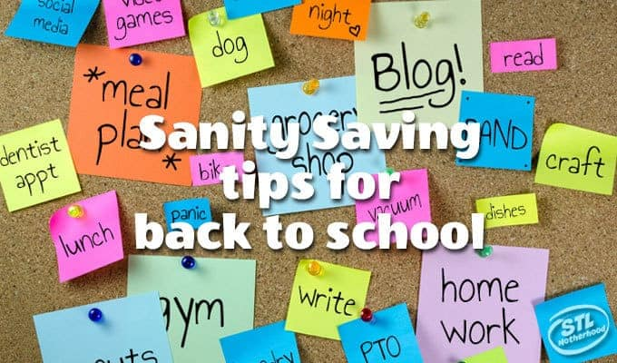 Sanity saving tips for moms on back to school