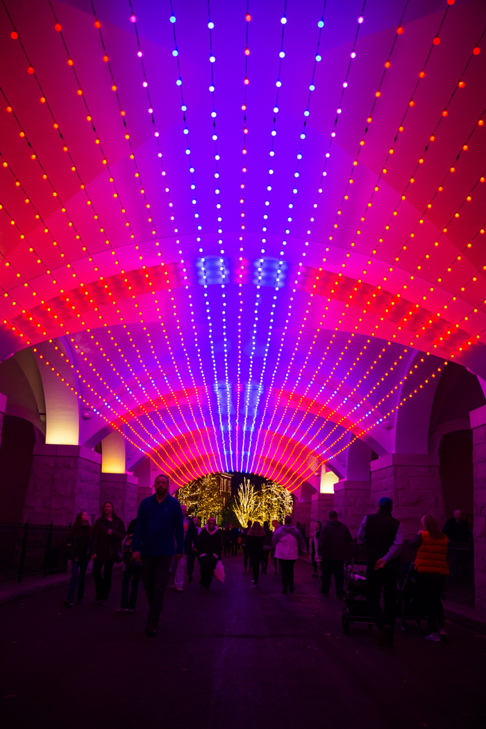 Brewery Lights in St. Louis tunnel