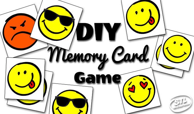 sample of emoji cards for memory card game