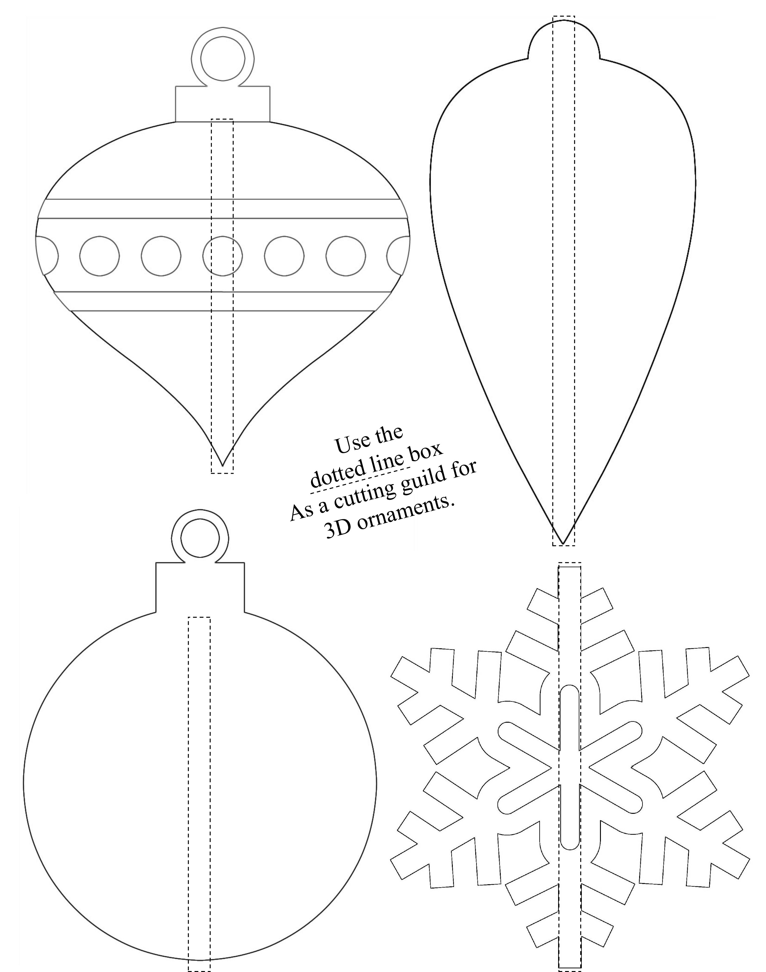 3D Shrinky Dink Ornaments