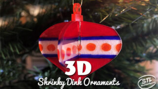 3D Shrinky Dink Christmas Ornaments