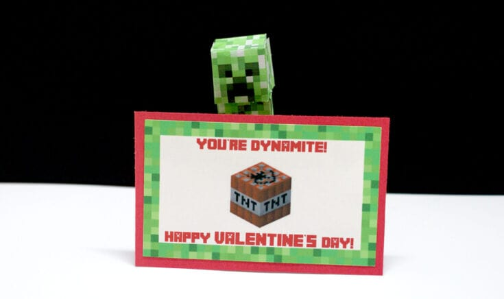 Awesome FREE Minecraft Valentine's Cards for Kids
