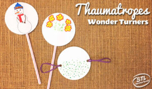 Thaumatrope and wonder turners you kid can make. STEM craft.