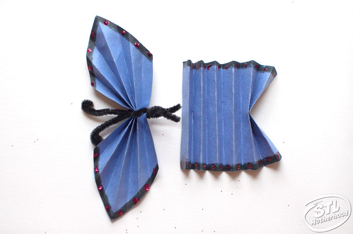 paper blue morpho butterfly craft