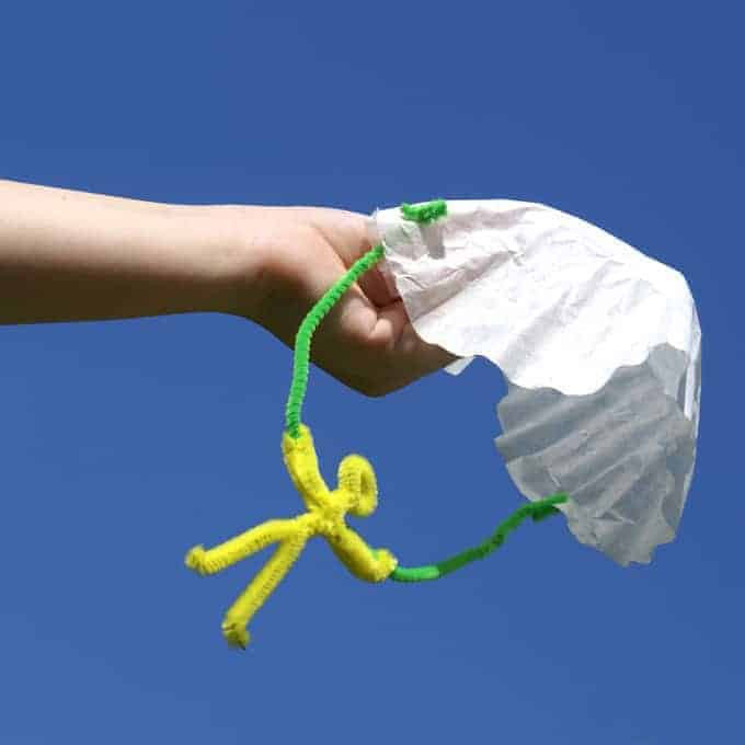 DIY Coffee Filter Parachute Toy