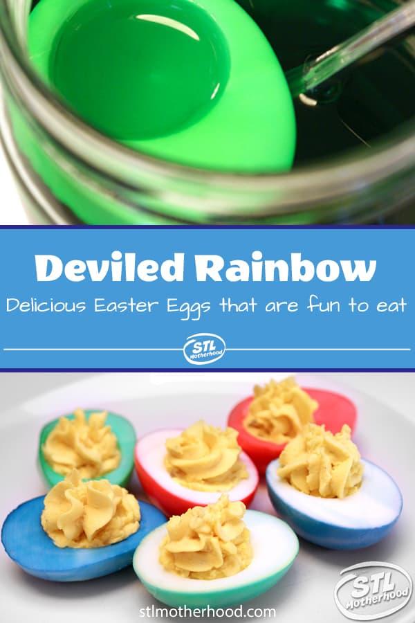 deviled rainbow eggs