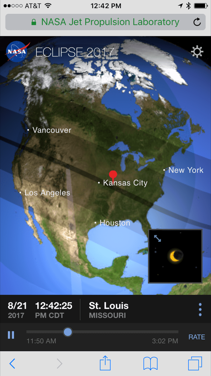 eclipse app from NASA