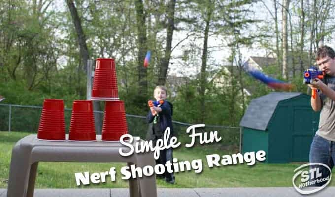 DIY Nerf Shooting Range