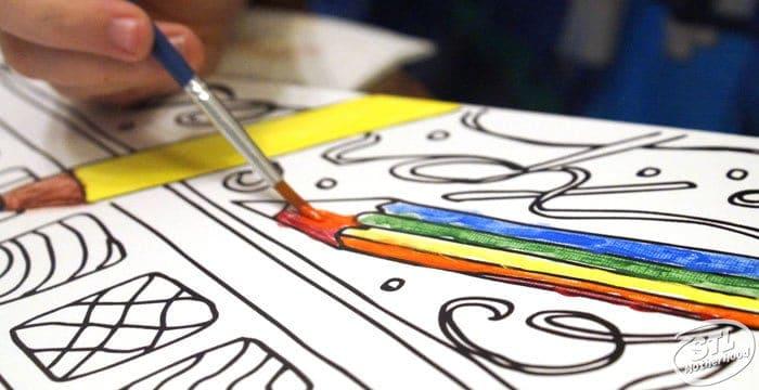 color canvas DIY canvas color art