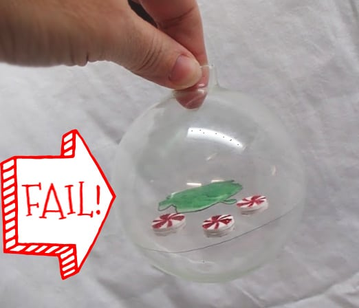 floating plastic ornament fail