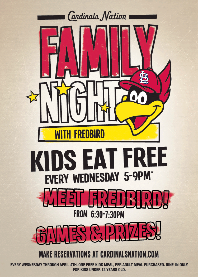 Family Night with Fredbird at Cardinals Nation