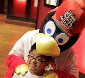 Cardinals Nation Fredbird kids eat free