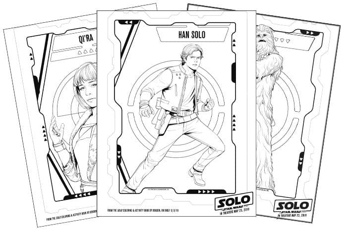 Han Solo coloring sheets