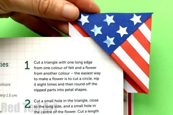 American Flag Bookmark