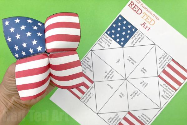 American flag fortune teller